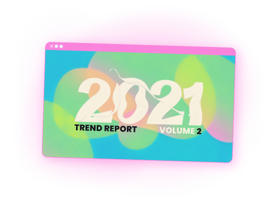 Cover of the 2021 trend report