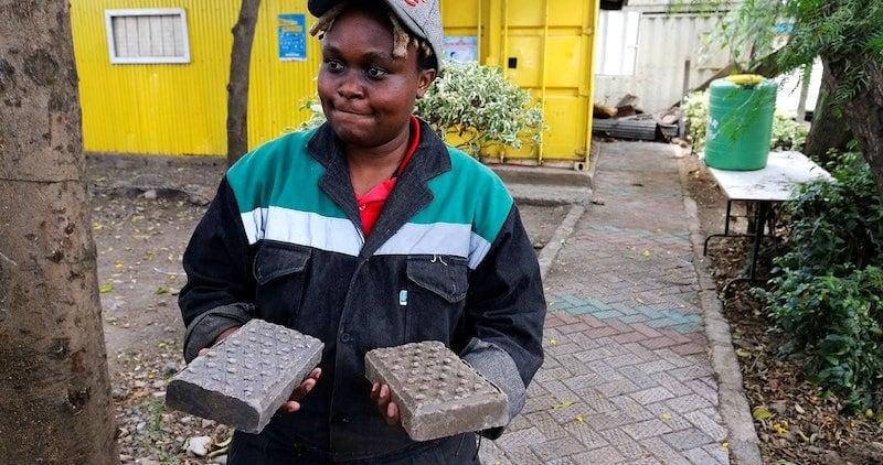 Recycled-plastic-bricks