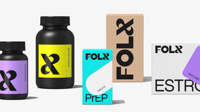 A selection of healthcare products from Folx