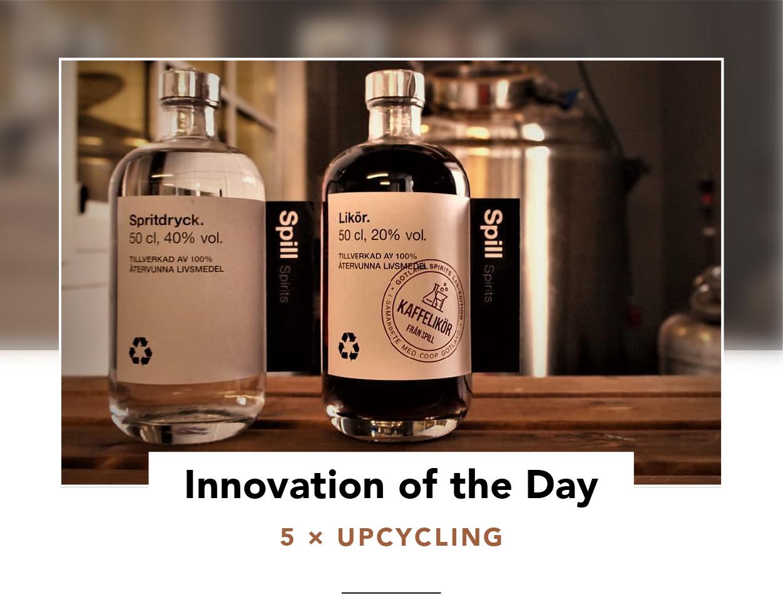 Two bottles of Spill Spirits