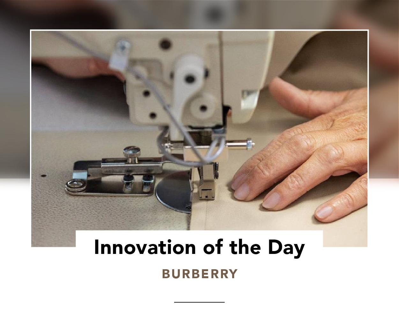 Hand running fabric through a sewing machine
