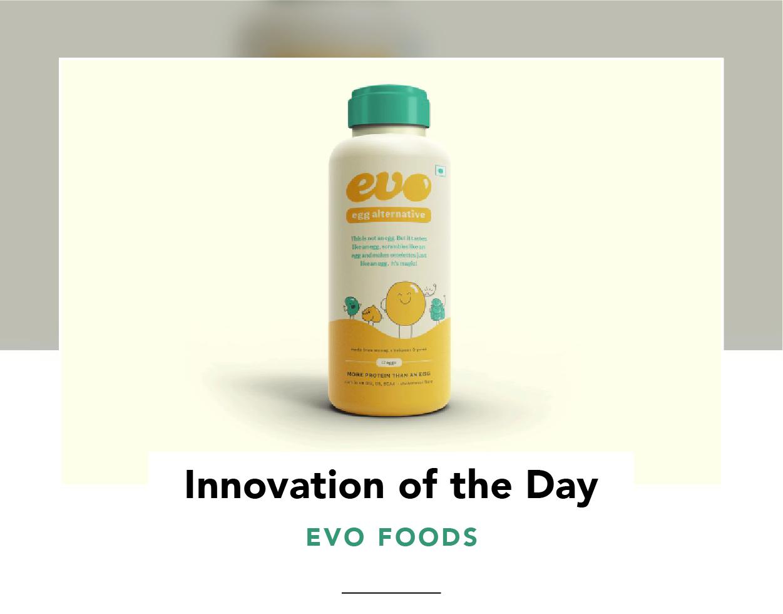 A bottle of Evo egg substitute