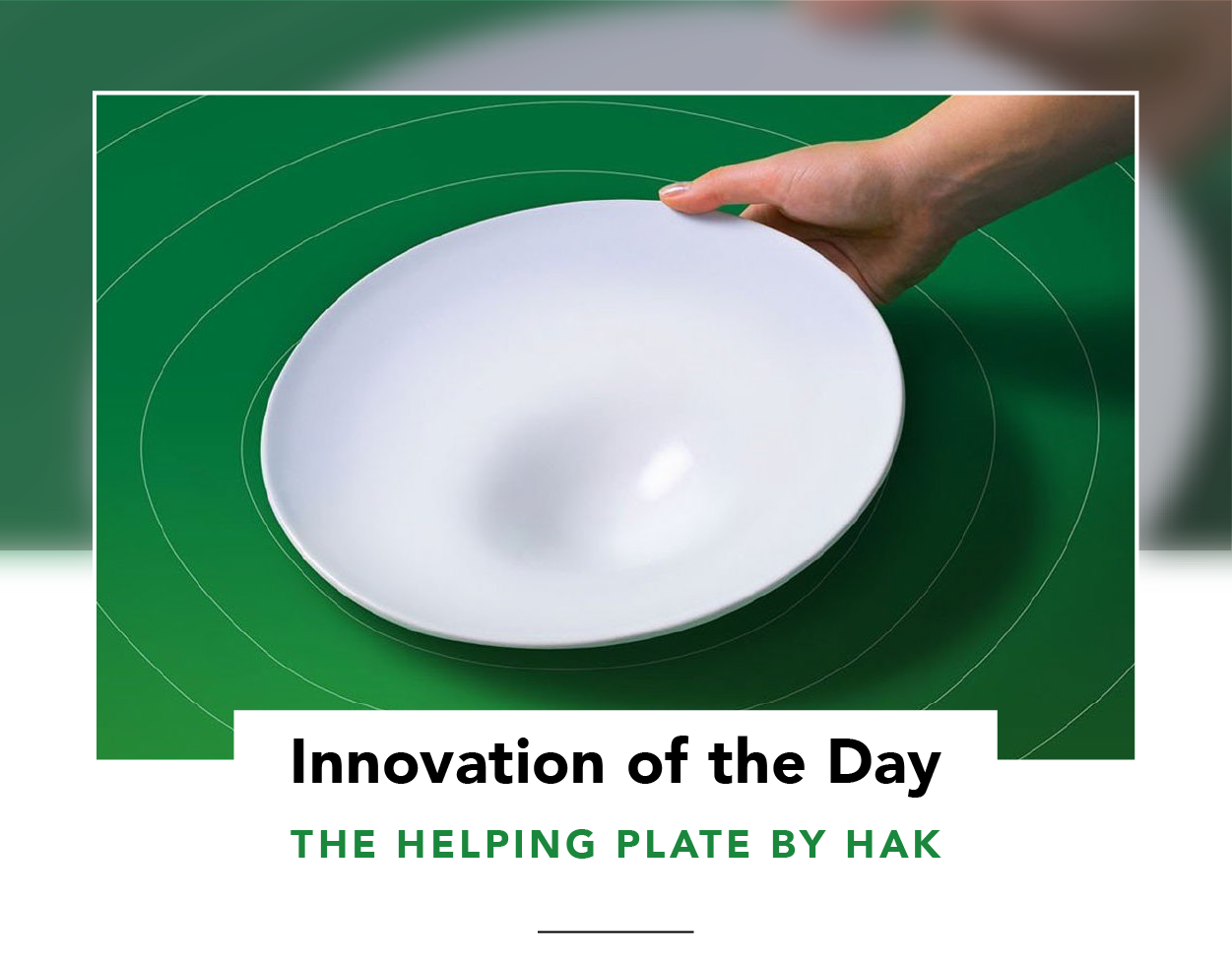 Large white dinner plate with a circular indentation
