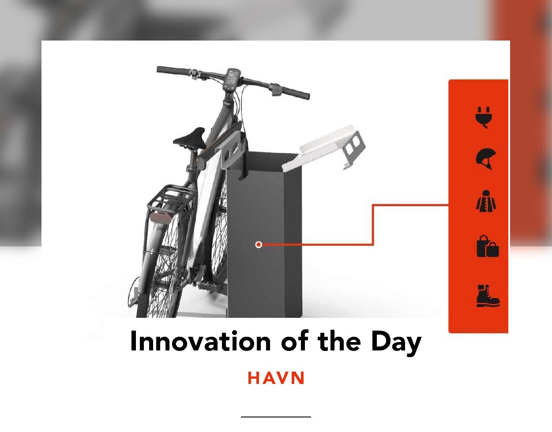 E-bike parked at a HAVN unit