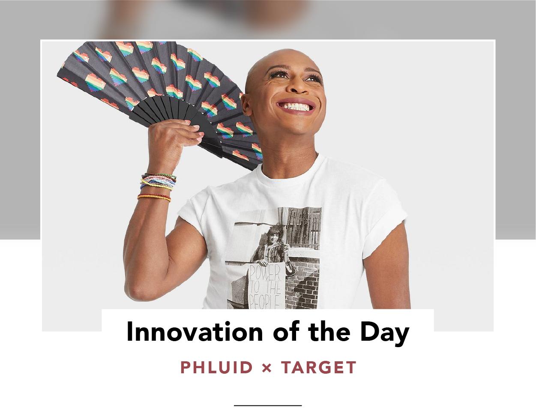 Model wearing a t-shirt featuring gay rights activist Marsha P. Johnson