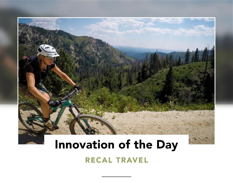 Woman mountain biking in the great outdoors