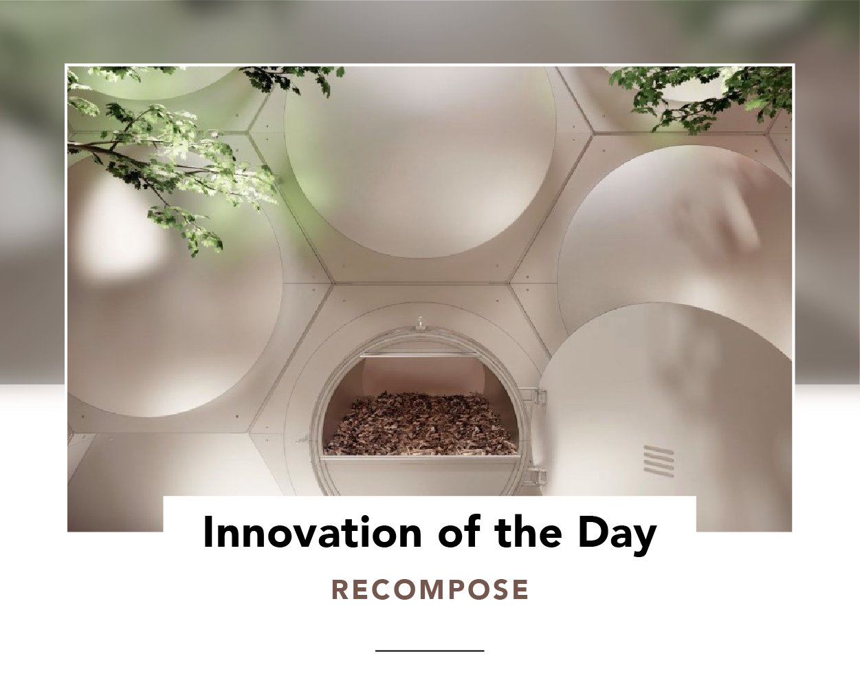 An array of hexagonal vessels at Recompose's first human composting facility