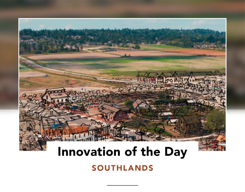 Bird's eye view of Southlands in development