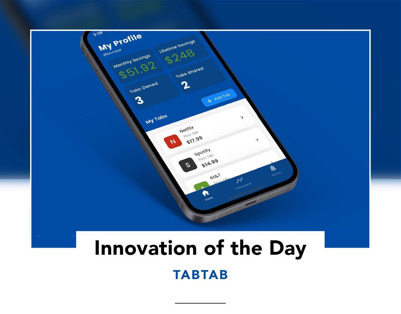 Phone showing TabTab app